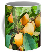 Fleshy Yellow Plums On The Branch Coffee Mug