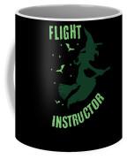 Flight Instructor Witch Halloween Costume Coffee Mug