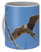 Flight Of The Night Heron Coffee Mug