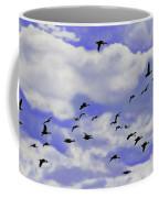 Flight Over Lake Coffee Mug