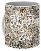 Flip Flop Zone Seashell Background Coffee Mug