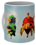 Floating Aerial Photographer And The Smiling Crab Coffee Mug