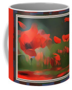 Floating Wild Red Poppies Coffee Mug