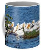 Flock Of White Pelicans Coffee Mug