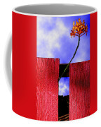 Flora And The Red Fence Coffee Mug