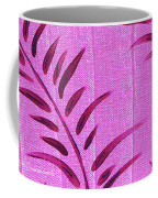 Flora Fauna Tropical Abstract Leaves Painting Magenta Splash By Megan Duncanson Coffee Mug