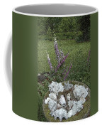 Floral Abstract With Anchor Coffee Mug