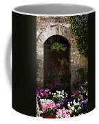 Floral Adorned Doorway Coffee Mug