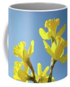 Floral Art Daffodil Flowers Spring Prints Blue Sky Baslee Troutman Coffee Mug