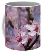Floral Art Pink Spring Blossoms Prints Blue Sky Baslee Troutman Coffee Mug