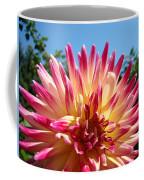 Floral Art Pink Yellow Dahlia Flower Baslee Troutman Coffee Mug