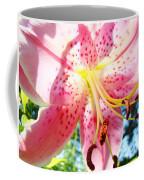Floral Art Print Pink Summer Lily Flower Lilies Baslee Troutman Coffee Mug