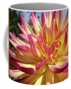 Floral Art Prints Bright Dahlia Flower Canvas Baslee Troutman  Coffee Mug