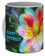 Floral Birthday Card Coffee Mug