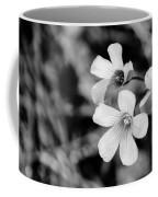 Floral Black And White Coffee Mug