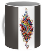 Floral Bouquet Abstract With Dots Coffee Mug