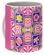 Floral Collage Daffodil Hibiscus Poppy Lily Coffee Mug