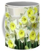 Floral Daffodils Garden Art Prints Floral Bouquet Baslee Troutman Coffee Mug