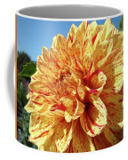Floral Dahlia Flower Art Print Orange Red Dahlias Baslee Coffee Mug