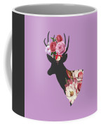 Floral Deer Coffee Mug