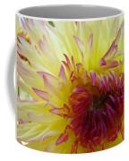 Floral Fine Art Dahlia Flower Yellow Red Prints Baslee Troutman Coffee Mug