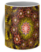 Floral Fractal Wreath  Coffee Mug