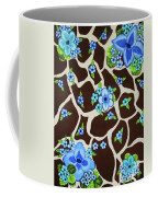 Floral Giraffe Print Coffee Mug