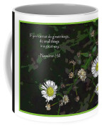 Floral Great Way Quote Coffee Mug