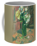 Floral Green Vase Coffee Mug
