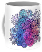Blue Floral Indian Pattern Coffee Mug