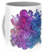 Lilac Floral Indian Pattern Coffee Mug