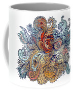 Brown Floral Indian Pattern Coffee Mug