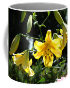 Floral Lilies Art Yellow Lily Flowers Giclee Baslee Troutman Coffee Mug