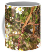 Floral Mantis Coffee Mug