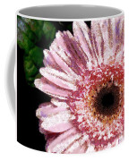 Floral Pink Creative Fragmented In Thick Paint Coffee Mug