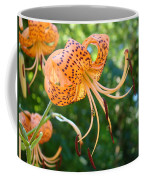 Floral Tiger Lily Flower Art Print Orange Lilies Baslee Troutman Coffee Mug