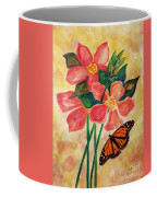Floral With Butterfly Coffee Mug