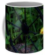 Floral Yellow Peek A Boo Coffee Mug