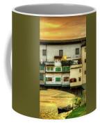 Florence - Boats Under The Ponte Vecchio Sunset - Untextured Coffee Mug