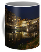 Florence Italy Night Magic - A Glamorous Evening At Ponte Vecchio Coffee Mug