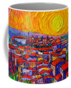 Florence Sunset 10 Modern Impressionist Abstract City Knife Oil Painting Ana Maria Edulescu Coffee Mug