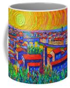 Florence Sunset 4 Modern Impressionist Abstract City Impasto Knife Oil Painting Ana Maria Edulescu Coffee Mug