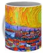 Florence Sunset 5 Modern Impressionist Abstract City Impasto Knife Oil Painting Ana Maria Edulescu Coffee Mug