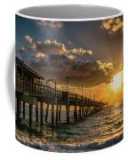 Florida Sunrise At Dania Beach Pier Coffee Mug