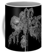 Florida Thatch Palm In Black And White Coffee Mug
