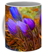 Flourescent Flowers Coffee Mug