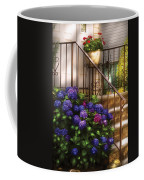 Flower - Hydrangea - Hydrangea And Geraniums  Coffee Mug by Mike Savad
