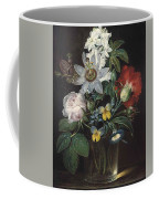 Flower And A Delphinium In A Glass Vase Coffee Mug