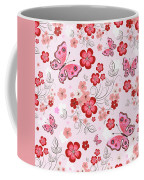 Flower And Butterfly Bj01 Coffee Mug