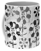 Flower Face B W Coffee Mug